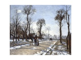 Road to  Versailles at Louveciennes: Winter and Snow Giclee Print by Camille Pissarro
