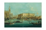 Bucintoro (Doge's Galley) in Front of Doge's Palace Giclee Print by Giuseppe Bernardino Bison