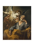 Dream of Saint Joseph (Angel Visiting Joseph While He Sleeps) Print