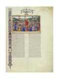 First Speech of Moses to Israel, from Deuteronomy in Bible of Federico Di Montefeltro, 1476-1478 Print