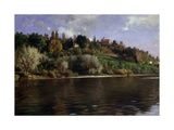 Hill in Turin (Landscape with a River) Affiches par Demetrio Cosola