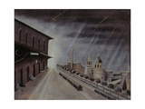 Storm at the Station of Assisi Giclee Print by Orneore Metelli
