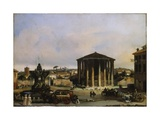 Temple of Vesta Prints by Giacomo Guardi