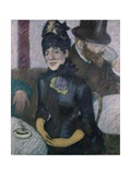 Woman in a Bar Giclee Print by Federico Zandomeneghi