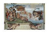 Sistine Chapel Ceiling, the Flood and Noah's Ark Giclee Print by Michelangelo Buonarroti