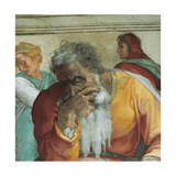 Sistine Chapel Ceiling, Prophet Jeremiah Prints by  Michelangelo Buonarroti