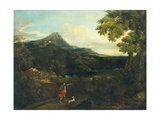 Landscape with Wanderers, C. 1700-49 Poster