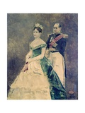 Jerome Bonaparte and His Daughter Matilda Giclee Print by Alfred Stevens