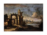 Landscape with Ruins and Country House Prints