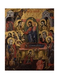 Dormition of the Virgin, with Christ, Priests, Saints and Angels Prints