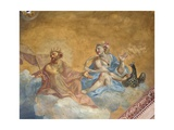 Roman Gods Jupiter and Juno, Benzi Palace Prints by Giuseppe (Bastarolo) Marchetti