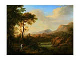 Landscape with Two Figures Posters by Gaetano Tambroni