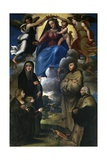 Virgin with Child in Glory, Angels, Sts. Monica and Francis Prints by Bartolomeo Ramenghi