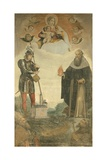 Madonna and Child, Sts. Titian, Florian, Anthony Abbot and Francis Prints by Francesco Frigimelica