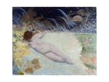 Ondina (Naked Woman Laying Among Vegetation) Prints by Giuseppe De Nittis