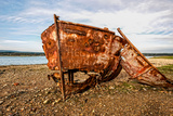 A View of a Rusty Boat on a Beach Photographic Print by Will Wilkinson