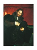 Gentleman with a Lion Paw Art by Lorenzo Lotto