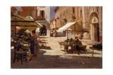 Market in Chivasso, Italy Poster par Demetrio Cosola