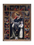 Madonna of the Rosary, Sts. Domenico and Catherine of Siena Prints by Giovanni Battista Bertusco