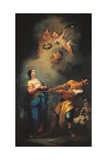 Saint Lucy (Torturer Violently Pulls the Saint Towards Martyrdom) Prints by Mauro Picenardi