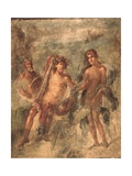 Roman Fresco from House of the Golden Bracelet with Dionysus (Center) Art
