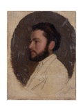 Profile Portrait of a Bearded Man with a Beard Affiches par Demetrio Cosola