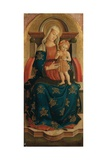Enthroned Virgin Mary Holding Baby Jesus, Polyptych of Monterubbiano Art by Pietro Alemanno
