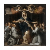 Our Lady of Mercy with the Orphans Poster by Benedetto Marini