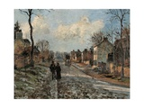 Road to Louveciennes Print by Camille Pissarro