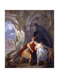 Aeneas and Dido in the Cave (With Eros on Right) Poster by Sebastiano Santi