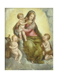 Madonna with Child, Little Saint John and Angel Posters by Livio (Ricciutello) Agresti