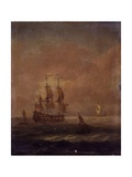 Seascape with Ships, C. 1690 - 1710 Posters