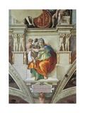 Sistine Chapel Ceiling, Delphic Sibyl Giclee-tryk i høj kvalitet af Michelangelo Buonarroti,