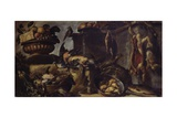 Still Life with Game and Fishes Posters by Bartolomeo Guidobono (Prete Savonese)