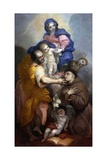 Holy Family with Saint Antonio from Padua Posters by Paolo Pagani