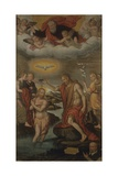 Baptism of Christ with Donor Posters af Giovan Battista Bertucci the Younger