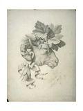 Gray Watercolor for the Print of a Ram Head Adorned with Vine Leaves Posters by Luigi Bramati