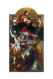 Madonna with Child and St. Michael the Archangel and a Bishop Art by Benedetto Marini