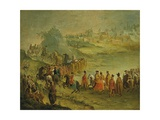 Procession of Infantrymen and Cavalrymen Giclee Print by Giuseppe Bernardino Bison
