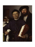 Giovanni Agostino and Niccolo Della to rre (Father and Son Lawyers) Prints by Lorenzo Lotto