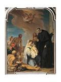Saint Maurus Heals a Child Giclée-tryk af Alessandro Magnasco