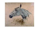 White 'Gazelle' Horse Posters by Henri de Toulouse-Lautrec