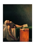 Death of Marat Posters av Jacques-Louis David
