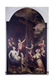 Proof of the True Cross (Empress Saint Helena and Raised Dead Man) Prints by Luca Longhi
