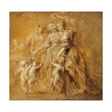 Sketch of Women with Putti Plakater af Peter Paul Rubens