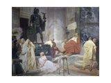 Martyrdom of Saint Justine of Padua in 302 Art by Vittorio Emanuele Bressanin