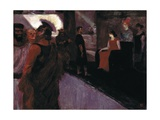Enthroned Messalina (With Roman Centurion and Men in to gas) Giclee Print by Henri de Toulouse-Lautrec