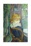 Woman Sitting in a Garden Prints by Henri de Toulouse-Lautrec