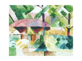 Entrance of a Garden Prints by Auguste Macke