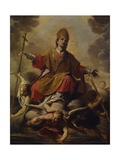 Holy Bishop in Glory Prints by Antonio Lucini